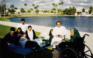 Author's family by the lake